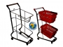 2 tier handbasket trolley